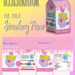Illustration - Strawberry Milk Carton Prospect with Design