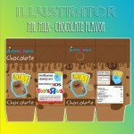 Illustration - Chocolate Milk Carton Design and Proof