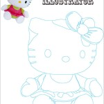 Illustration - Tracing Hello Kitty